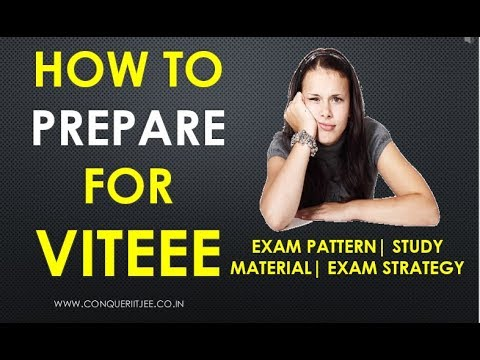 How to prepare for VITEEE? | Exam pattern | Study Material | Exam Strategy |