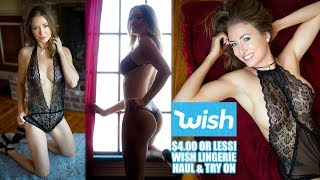 Super Cheap Wish Lingerie Haul Try On and Review 3