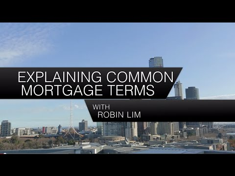 Explaining common mortgage terms
