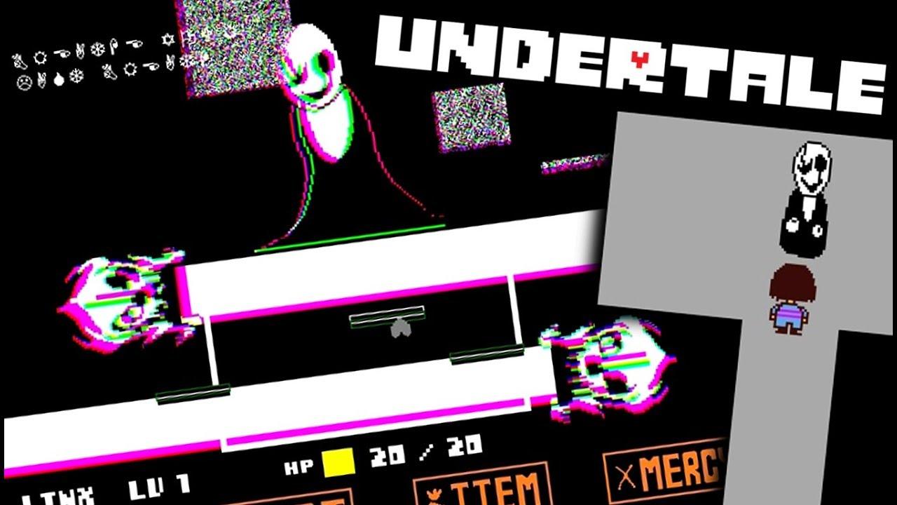 Battling Undertale S Secret Boss An Undertale Fun Value 66 Gaster Room 269 Fan Battle Youtube