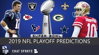 NFL Playoff Predictions 2019: Chiefs, 49ers, Patriots, Cowboys Favorites To Play In Super Bowl 54