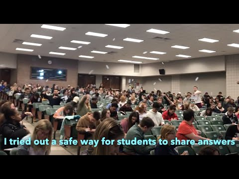 How to get 400 students sharing answers to intimate questions anonymously.