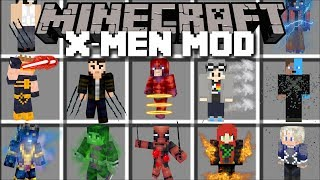 Minecraft XMEN SUPERHERO MOD / FIGHT WOLVERINE AND TRANSFORM IN TO YOUR SUPERHERO!! Minecraft