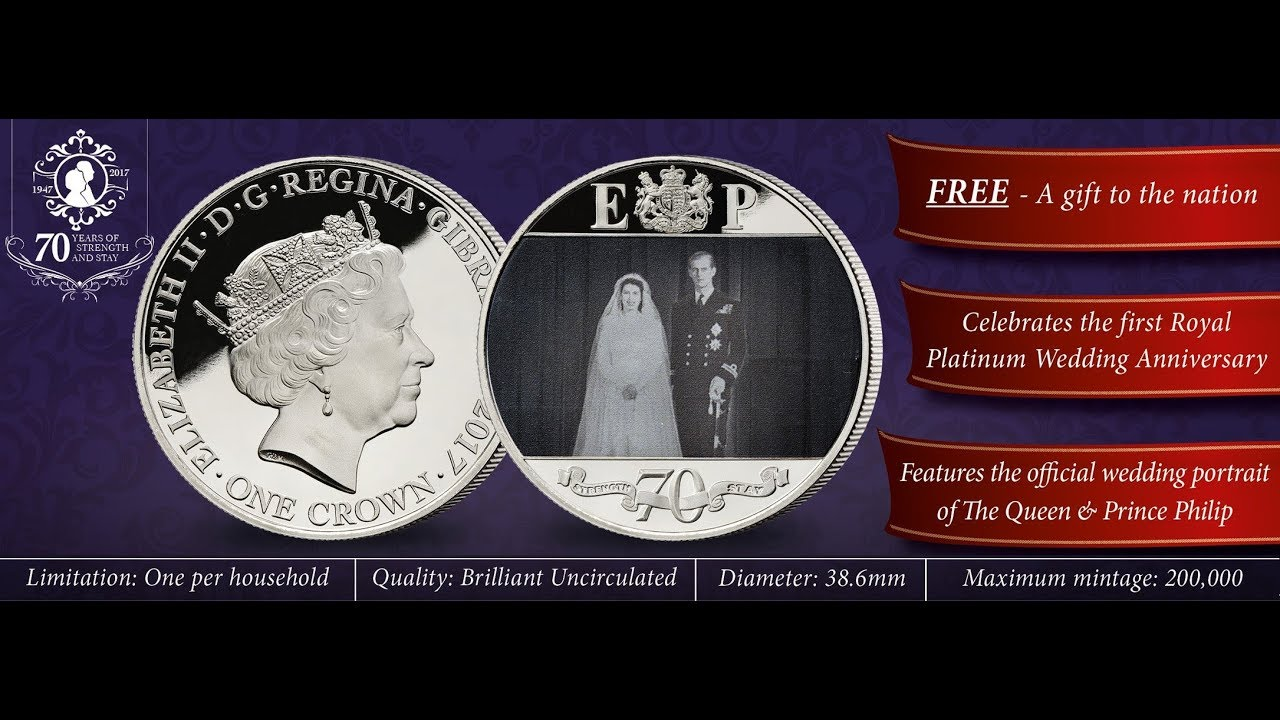 Free Coin Queen S 70th Platinum Wedding Anniversary To Prince Philip
