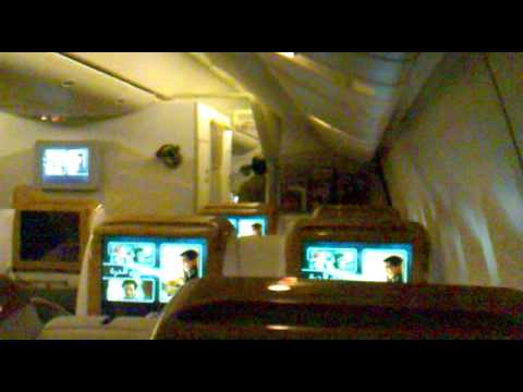 Emirates Business class  Amman to Dubai 11/12/2009