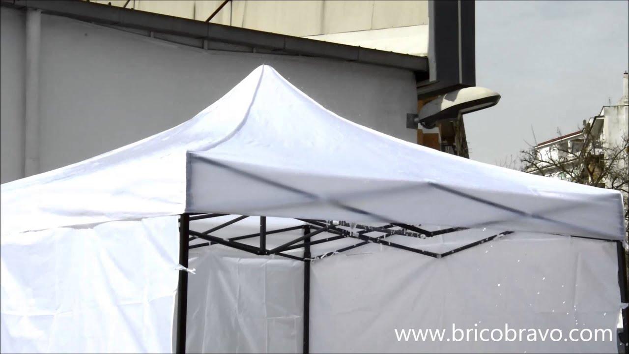 Test acqua gazebo richiudibile per fiere e mercatini youtube