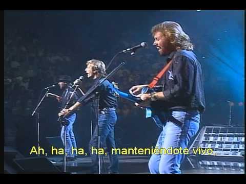 Bee Gees - Stayin alive (Live Subtitulado en Español).avi
