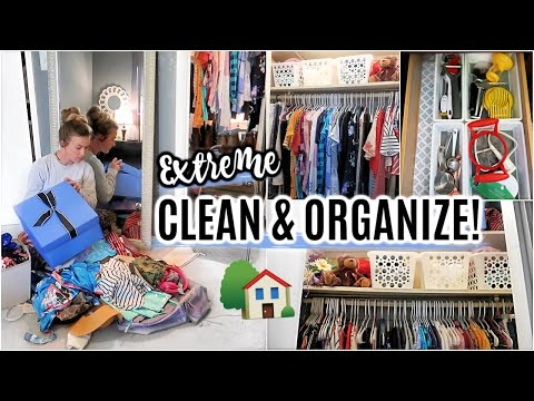 EXTREME CLEAN WITH ME | DOLLAR TREE ORGANIZATION IDEAS | DECLUTTERING & ORGANIZING MOTIVATION!