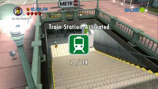 LEGO City Undercover - All 14 Train Stations Activated - Emeral Night Unlocked