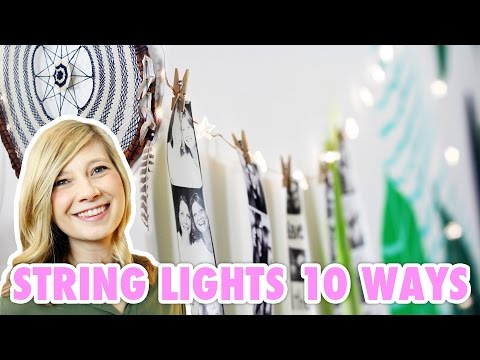 10 Ways To Decorate With String Lights Hgtv Handmade