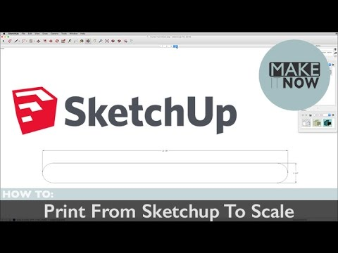 How To: Print Sketchup To Scale