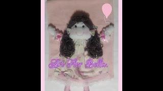 Toalhinha de boneca de pano 3D para Bebê Art Flor Bella