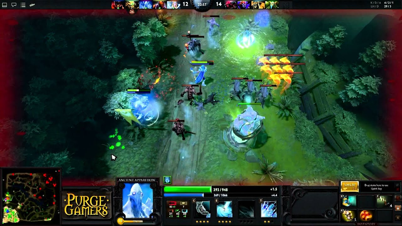dota 2 purge plays ancient apparition youtube
