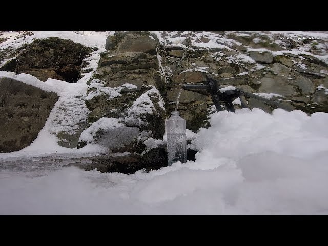 Aventuri pe bicicleta : Dupa apa, cu bicicleta pe zapada