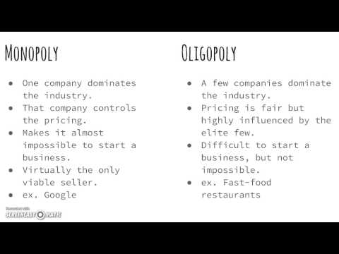 Difference Between Perfect Competition and Oligopoly