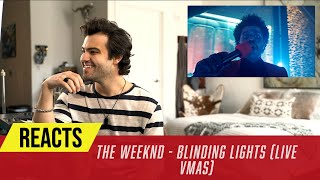 Producer Reacts to The Weeknd Live from The VMAs - Blinding Lights
