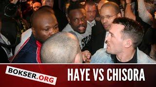 Dereck chisora brawls with david haye at klitschko vs chisora post-fight press conference