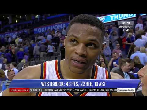 Daily 148: KD injured vs Wizards, Westbrook gets 30th triple double of the season