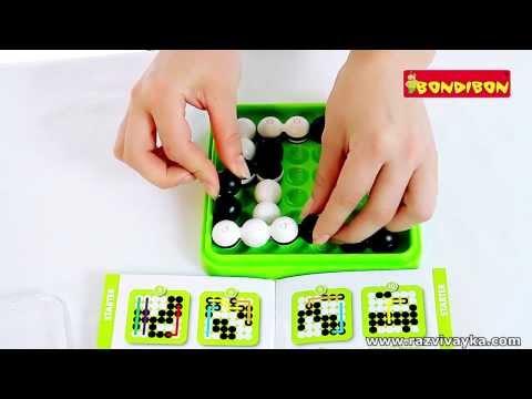 Настольная логическая игра - Шарики, гибкие формы (Bondibon)