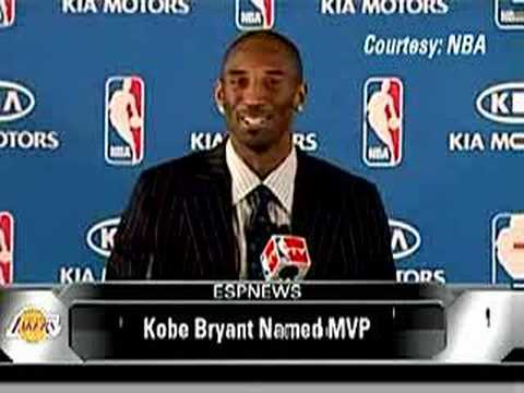 Kobe Bryant Wins His Nba Mvp Award