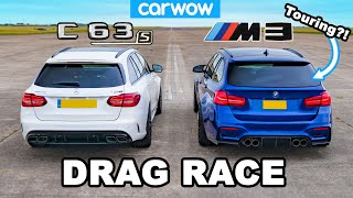BMW M3 Touring(?!) vs AMG C63 S Estate - DRAG RACE