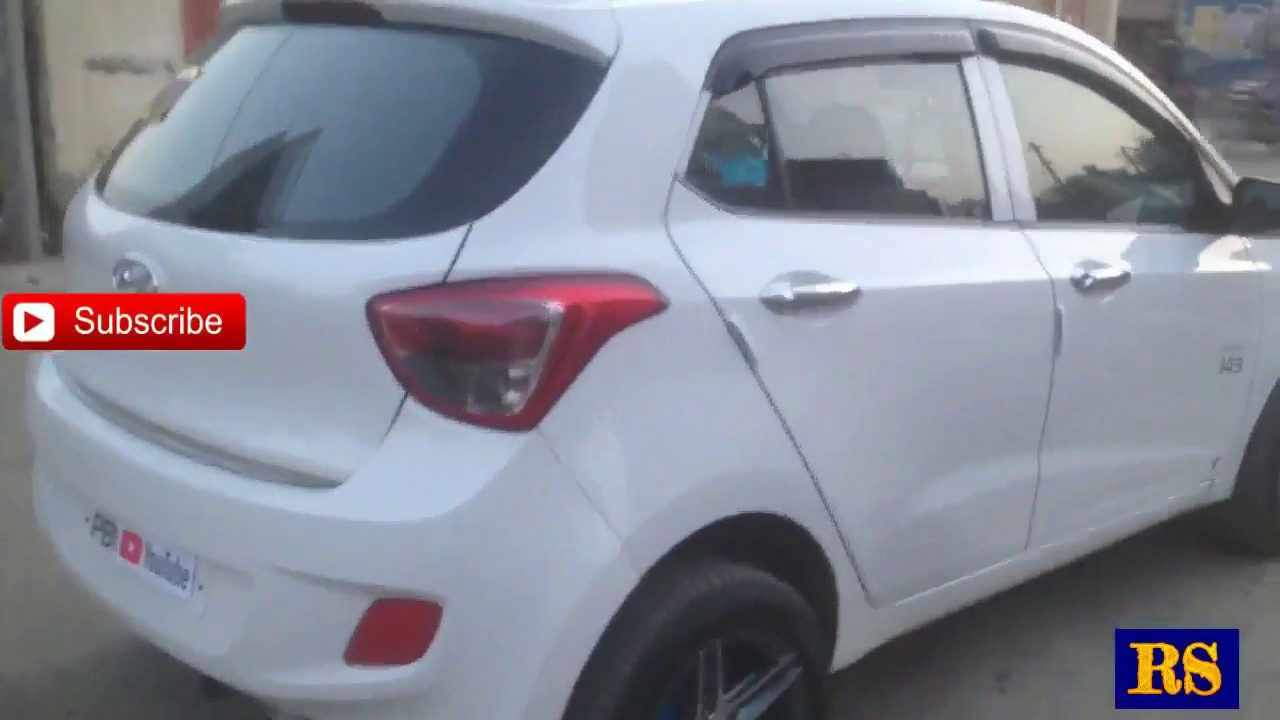 Hyundai Grand I10 Asta With JBL Subwoofers Sunshades And Various Other  Chrome Accessories Installed 533e1bb5b1b