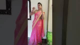 Beautiful indian girl in saree dancing