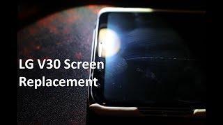 LG V30 Screen Repair Separating Screen from Frame