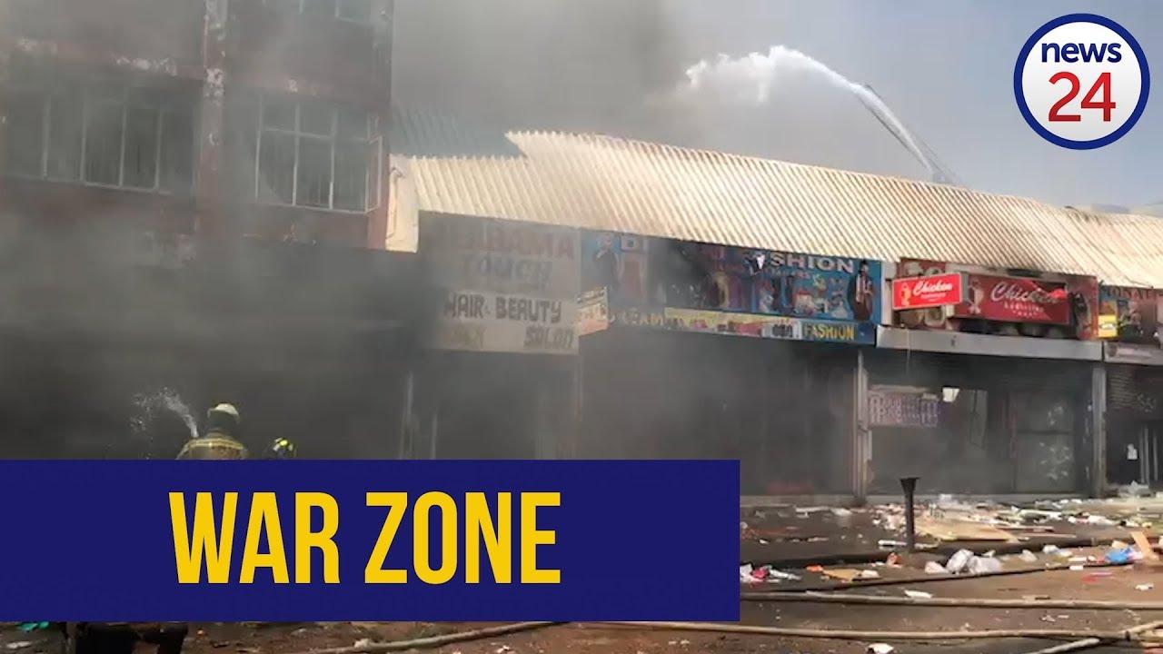 WATCH | Widespread destruction in Pretoria CBD after protest descends into looting spree