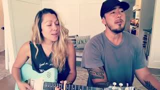 Colbie Caillat and Justin Kawika Young with her new EpGuitars.com Model One Self-amplified guitar.