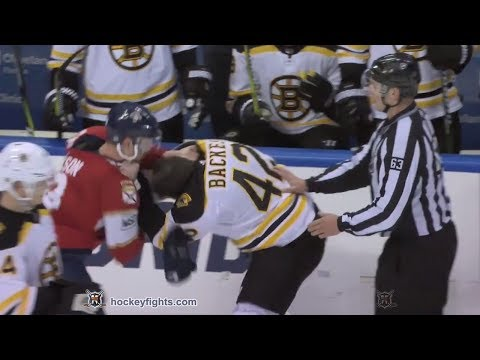 David Backes vs Michael Matheson Mar 15, 2018