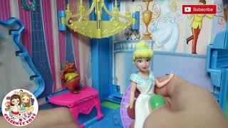 RARE Disney CInderella Storybook Playset Pop Up Scenes & Gus Gus Disney princess Review Unboxing