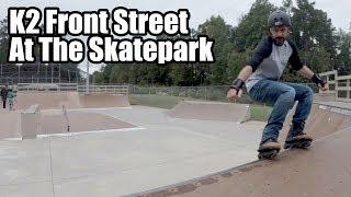 Skating my K2 Front Street at the Skatepark // Aggressive Inline Skating