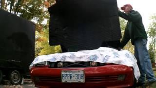 Mercedes r129 sl500,sl320 hood pad replacement