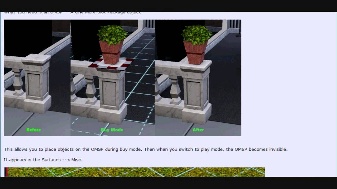 how to move objects slightly in sims 3