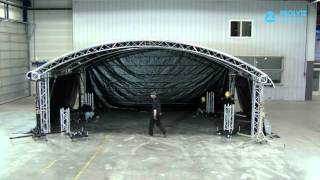 Test build of a Prolyte Arc Roof 8x6 by Prolyte Group