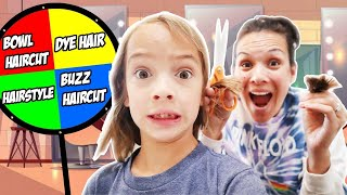 Spinning the WHEEL & DYEING or CUTTING our HAIR! Who got the MULLET?!