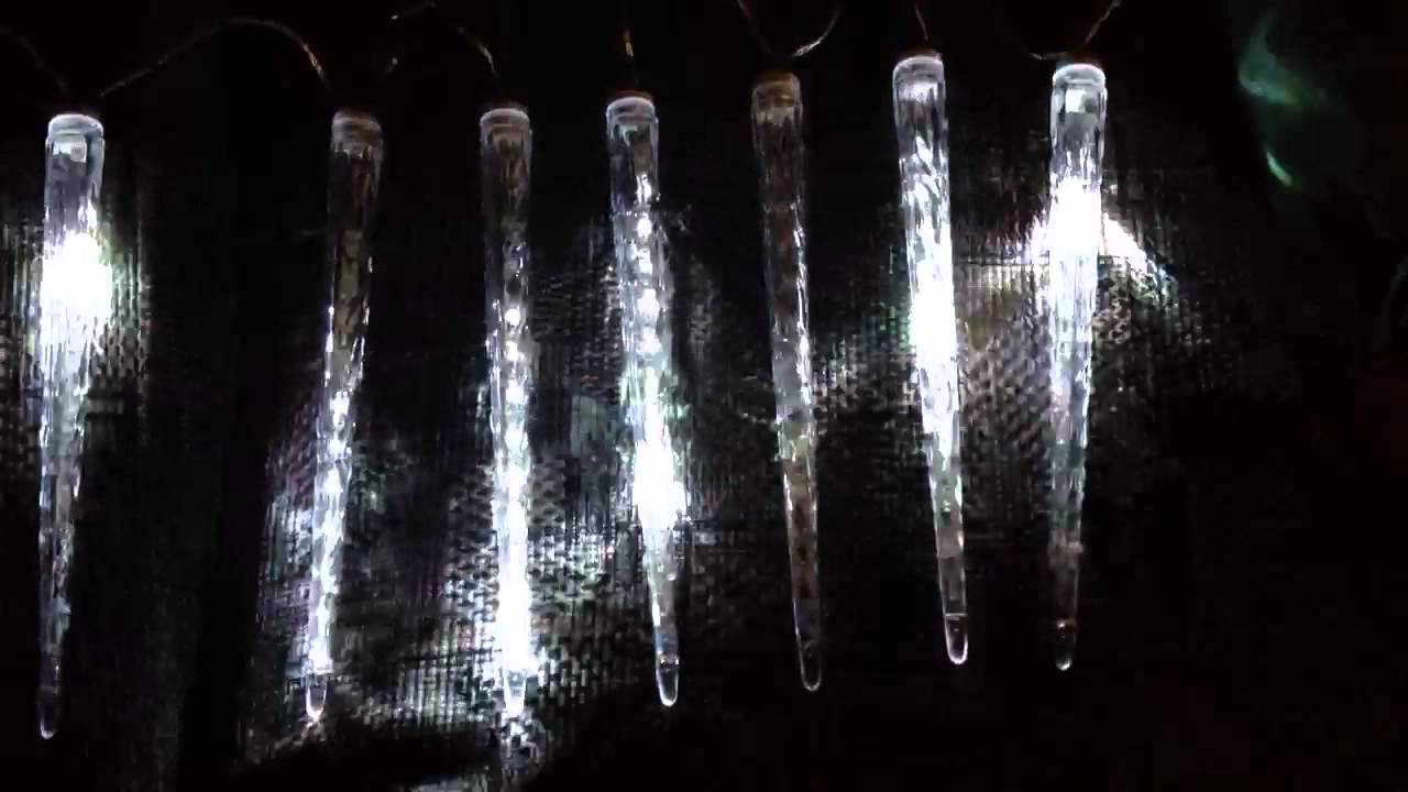 My NEW dripping Icicle lights! Yay! - YouTube
