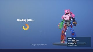 Buying & Gifting The NEW Fortnite Skin 'MECHA TEAM LEADER' & Dance Emote Showcase
