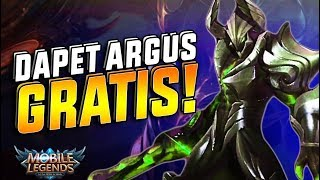 Video WAH! Dapet ARGUS GRATIS! - Mobile Legend Indonesia download MP3, 3GP, MP4, WEBM, AVI, FLV Januari 2018