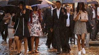باراك حسين أوباما يحل ضيفا على راؤول كاسترو في زيارة تاريخية   21-3-2016