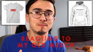 Reacting to my Old Merch! (What was I thinking?)
