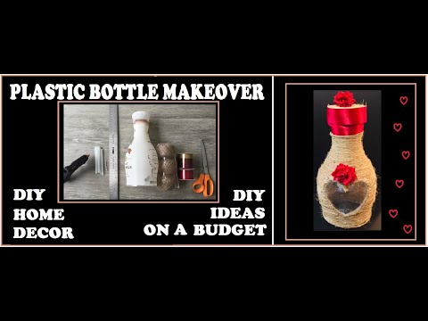 HOW TO RECYCLE PLASTIC BOTTLE TO MAKE DIY HOME DECOR IDEAS ON A BUDGET EASY CRAFT MAKEOVER