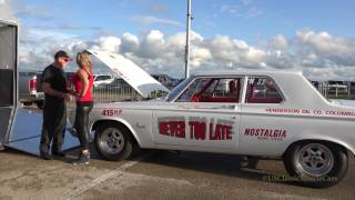 Nostalgia Super Stock -1964 Plymouth Savoy - NEVER TOO LATE - Route 66 Speedway