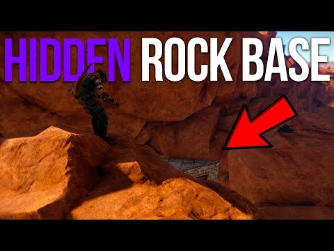 HIDDEN ROCK BASE! - Rust Group Survival #2