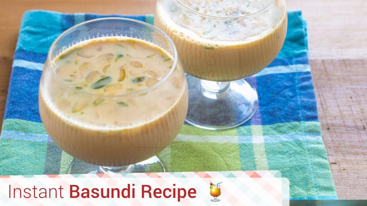 Instant Basundi Recipe Rabri Recipe How To Make Quick Basundi Alpa Youtube