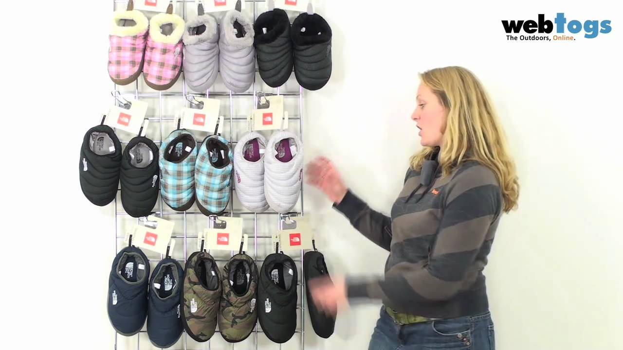 north face tent slippers womens