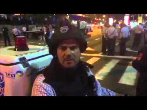 Head of United Hatzalah Eli Beer At Scene Of Jerusalem Terror Attack