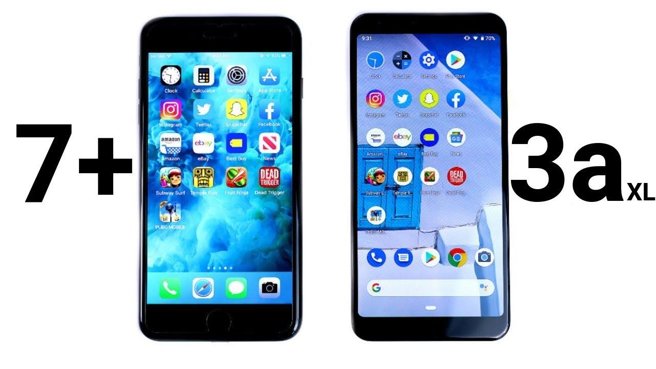 iPhone 7 Plus vs Pixel 3a XL Speed Test!