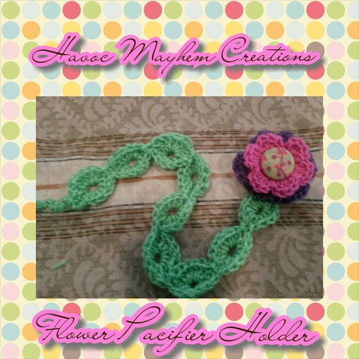 Tutorial How To Crochet A Flower Pacifier Holder By Sabrina Sun